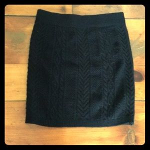 Dresses & Skirts - Black Knitted Mini
